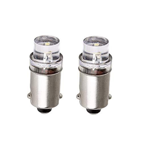 #47 T47 6.3-Volt Miniature Bayonet Bulb LED Replacement Indicator/Pilot Light Bulb | Ba9s Base
