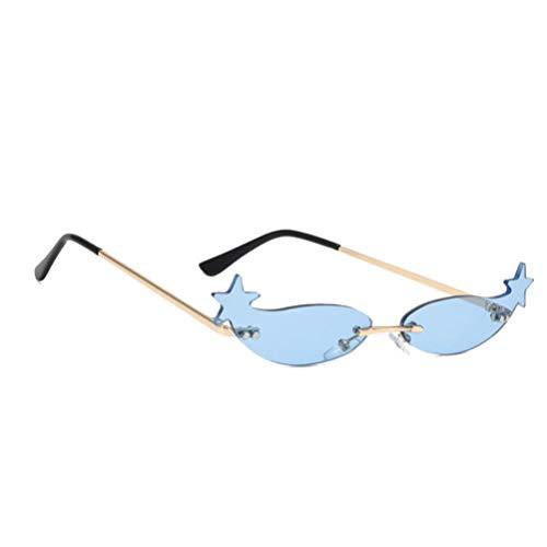 NUOBESTY Gafas de Sol Gafas en Forma de Estrella Gafas de Pentagrama Favores de Fiesta de Plástico Accesorios de Cosplay de Fotos Azul