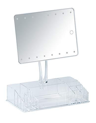 WENKO LED-Standspiegel mit Organizer Farnese