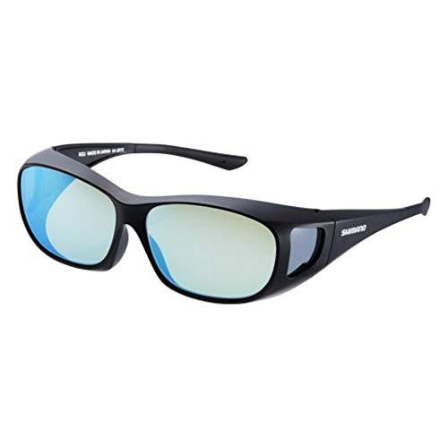 シマノ(SHIMANO) 釣り用 メガネの上からかける偏光サングラス オーバーグラス ブラック/イエローブルーミラー UJ-201S
