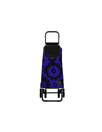 Carro Rolser Pack Flor 4 Ruedas Plegable - Azul/Negro
