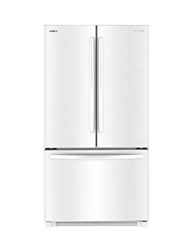 Daewoo RFS-26ABW French Door Bottom Mount Refrigerator, 26 Cu Ft, White