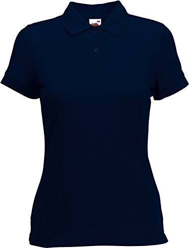 Fruit of the Loom Damen Lady-Fit Poloshirt 65/35 DeepNavy M