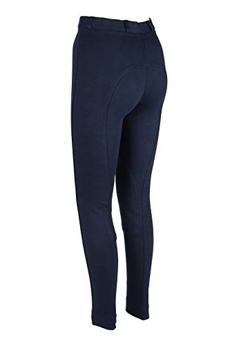 Astile Ladies Horse Riding Jodhpurs Stretchy Trousers Two Tone NAVY 26 LADIES