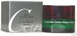 Must De Cartier Essence by Cartier for Men. 7.5 ML Eau De Toilette Splash Mini