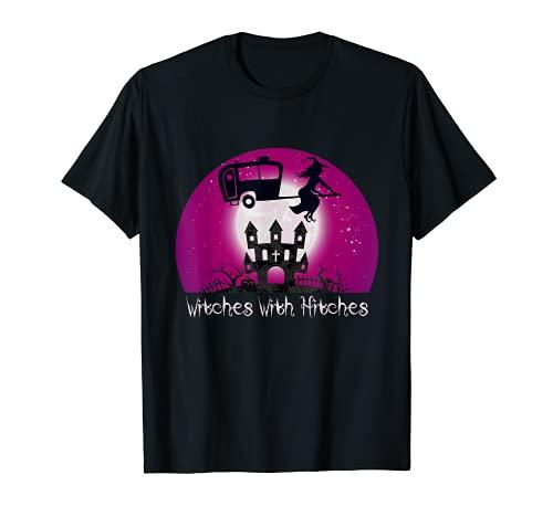 Brujas con enganches Halloween Camping inspirado en la luna regalo Camiseta
