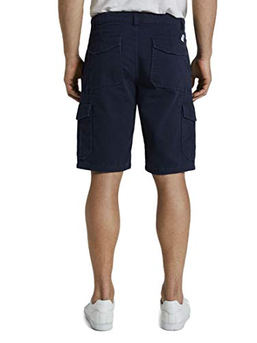 TOM TAILOR Herren Hosen & Chino Morris Relaxed Bermuda Cargo-Shorts Sky Captain Blue,36,10668,6000