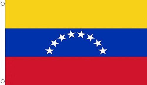 AZ FLAG Flagge Venezuela OHNE WAPPENSCHILD 150x90cm - Venezuela Fahne 90 x 150 cm - flaggen Top Qualität