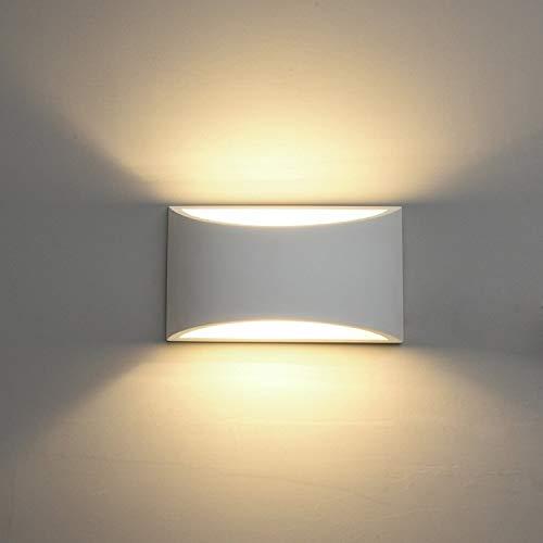Lampadario Lampada da parete in ceramica DECKEY, Illuminazione decorativa in gesso Illuminazione a parete a LED Top Down, Lampada da parete moderna per interni Effetto luce per camera da letto, Corrid