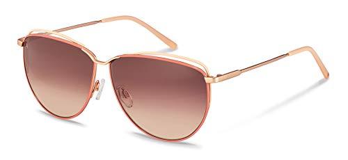 Gafas de sol Rodenstock Youngline Sun R1430 (mujer), gafas de mujer ligeras en estilo retro, gafas mariposa modernas con montura de acero inoxidable