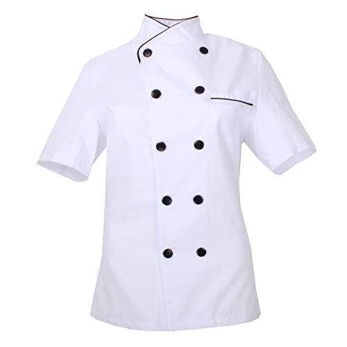 MISEMIYA - Chaquetas Chef Uniforme COCINERA MARMINTÓN SOLLASTRE GUISANDERO ADOBADOR Salsero- Ref.8441 - L, Chaquetas Cocinera 8441 - Blanco