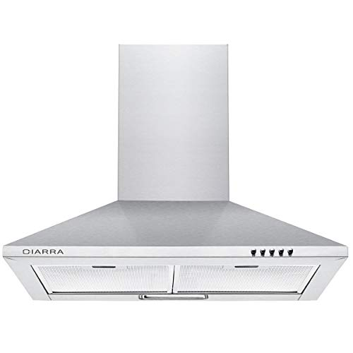 CIARRA CBCS6201 Cooker Hoods 60cm Stainless Steel Chimney...