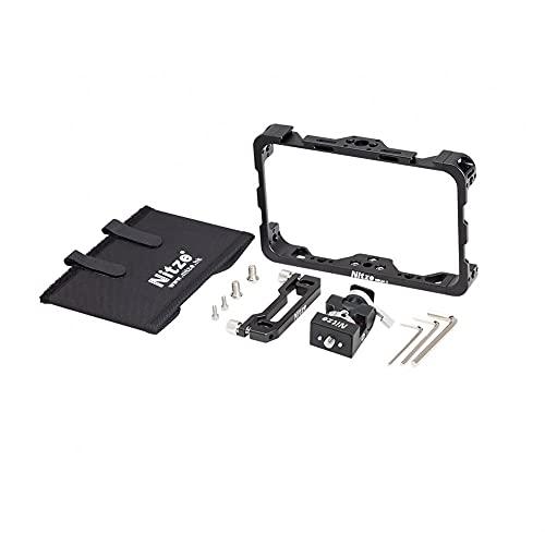 """Nitze Field Monitor Cage Kit Sun-Hood/Magic Holder/HDMI Cable abrazadera para Atomos Ninja V/Shinobi 5"""" Monitor de grabación"""