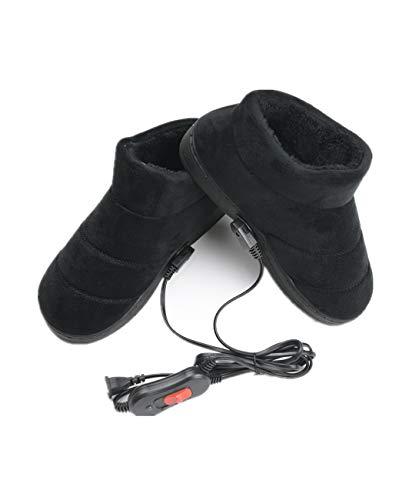 RRPPP 1 Paar elektrische Heizung Pantoffel beheizt Plüsch Schuhe Fußwärmer für den Winter