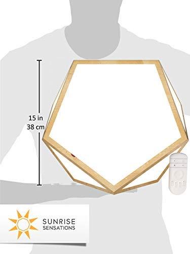 Sunrise Sensations - DayBright Light Therapy Lamp Full Spectrum, 10,000 LUX, UV-Free, Full Size, Adjustable Light Built from Real Hardwood