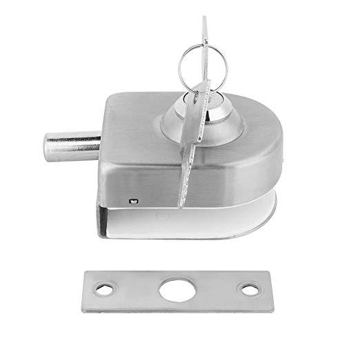 Türschloss Latch - Lock, Edelstahl-Badezimmer-Glastürschloss mit Schlüssel Zubehör