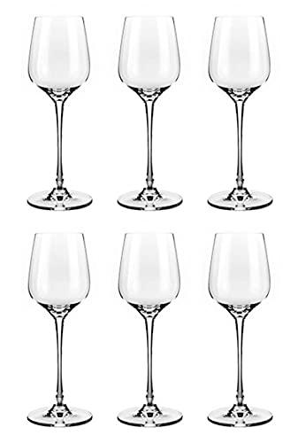 SF Queen Set da 6 calici in Cristallo Vino Bianco - rosè cl 39