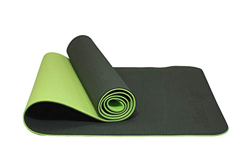 MaxDirect Colchoneta para Yoga, Pilates, Gimnasia de Material Ecológico TPE. Esterilla Antideslizante Muy Ligera de Grosor de 6mm, tamaño 183cm x 61cm. Verde