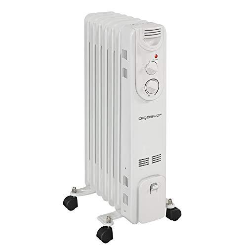 Aigostar Hotwin 33ICZ – Radiador de aceite de 7 elementos, 1500 Watios, dispone de...