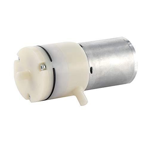. Sunsbell DC 12V Acuario Oxígeno Circulado Metal Mini Bomba de aire Motor Micro Bomba de vacío eléctrica Bombeo de refuerzo para instrumentos de tratamiento médico