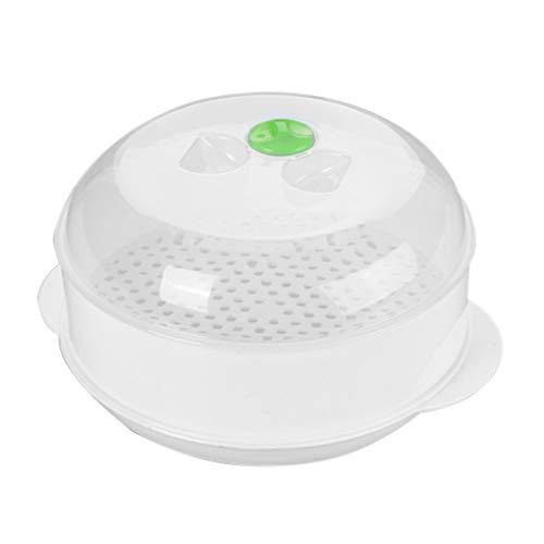 Placa de plástico Vapor del Horno microondas de alimento Cocción Caja de almacenaje de la Cocina de un Recipiente con Tapa