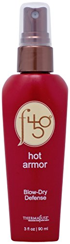 Thermafuse f450 Hot Armor Blow-Dry Defense (3 oz) Heat Protectant Spray for High Heat-Styling Tools. Reduces Blow Dry Time, Detangles, Conditions, Add Shine and Moisturizes All Hair Types.