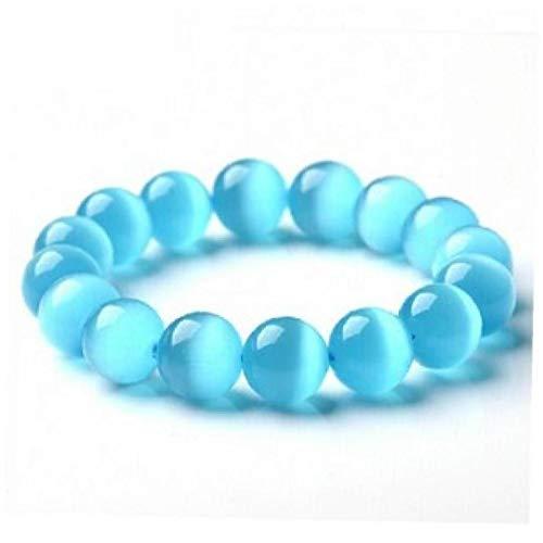 Ópalo Azul Pulsera & Brazalete De La Mujer Y Niña, Natural Grano De La Piedra De Joyería