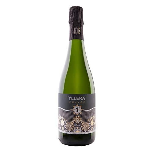 Yllera | Vino Blanco Crianza Yllera Privée Brut | Pack de 3 uds | Chardonnay y Verdejo | 75 cl | Vino de la Tierra Castilla y León | Aroma de Manzana Verde y Cítricos | Espumoso | Vino Español