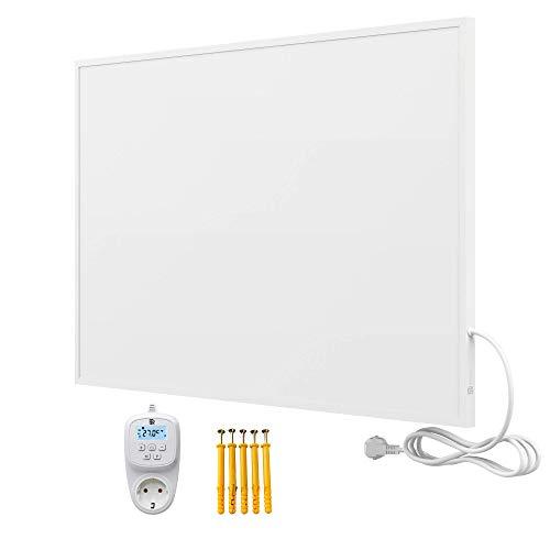 Bringer Infrarotheizung Infrarot Wandheizung Heizung Heizkörper Thermostat (900 Watt, Heizplatte mit WIFI Thermostat (BRTW))