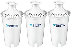 Brita Standard Water Filter, Standard Replacement Filters for Pitchers and Dispensers, BPA Free, 3 Count