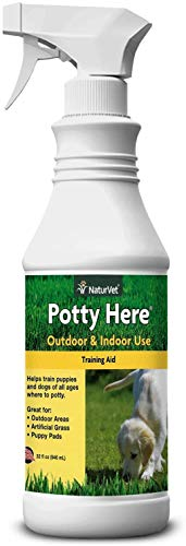 NaturVet – Potty Here Training Aid Spray – Attractive Scent Helps Train Puppies & Dogs Where to...
