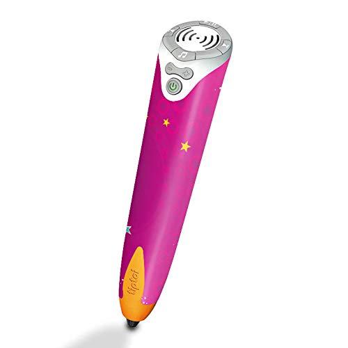 DeinDesign Skin kompatibel mit Ravensburger Tiptoi Stift mit Player Folie Sticker Sterne pink Glitzer Look