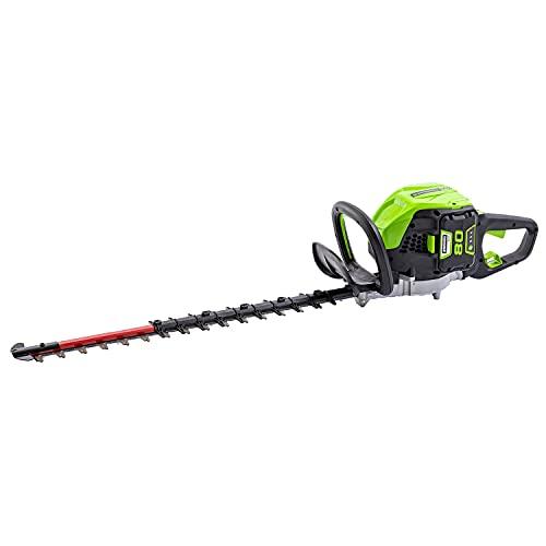 Greenworks Tools 80V 66CM Bürstenlose Akku-Heckenschere, 500W 3400 SPM Schnittgeschwindigkeit, Lasergeschnittene Stahlklingen, Drehbarer Hinterer Griff (ohne Akku und Ladegerät)