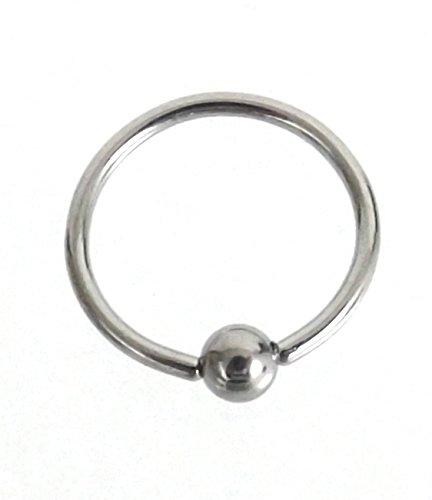 1 x Piercing anneau boule bCR en acier chirurgical -dreams grössenwahl 1,0 mm 1,0 x 10 mm