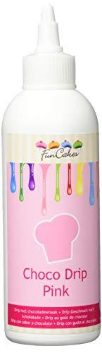 FunCakes Choco Drip Pink: Köstlicher Geschmack, Einfach zu Verwenden, Perfekt für Tropfkuchen, Schöne rosa Farbe. Wiederverschließbare Packung 180 g.