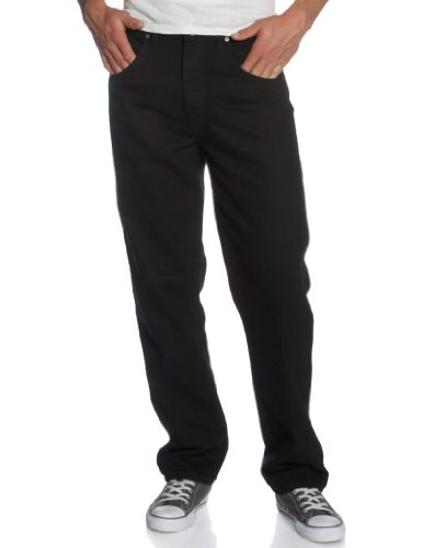 Wrangler Men's Rugged Wear Relaxed Fit Jeans, Black, W50 L32