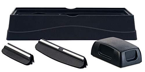 Rosenstein & Söhne Winkelhalter: 4-teiliges Schleifstein-Zubehör-Set mit Halter, Winkelhilfen & Glätter (Universal-Schleifsteinhalter)