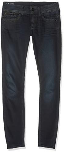 G-STAR RAW Damen Lynn Zip Pocket Mid Waist Skinny Jeans, Blau (dk Vintage Aged 9615-A277), 28W / 32L