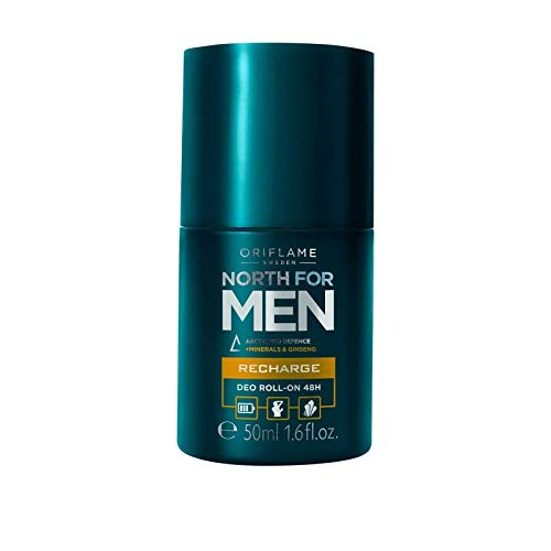 Oriflame North for Men Recharge Deo Roll-On 48H, 50ml Nouveau