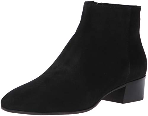 Aquatalia Women's Fuoco Suede Ankle Boot, Black, 9 M US