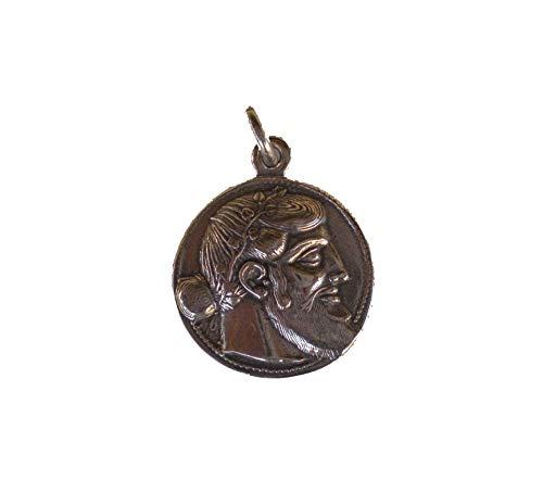 Unbekannt Dionysus Bacchus Satyr Anhänger Silber Phallus Dionysos God of Wine