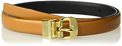 Calvin Klein Women's Reversible Belt, Vachetta/black, L