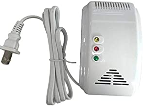 جهاز كشف الغاز ابيض جديد للكشف عن تسرب الغاز مع حساس تحذير للكشف عن إنذار لجهاز Home Security LS-838-1U