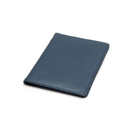 Real Leather Multi Purpose Card Wallet, Ideal for Oyster Card/Travel Pass Holders - Navy Blue