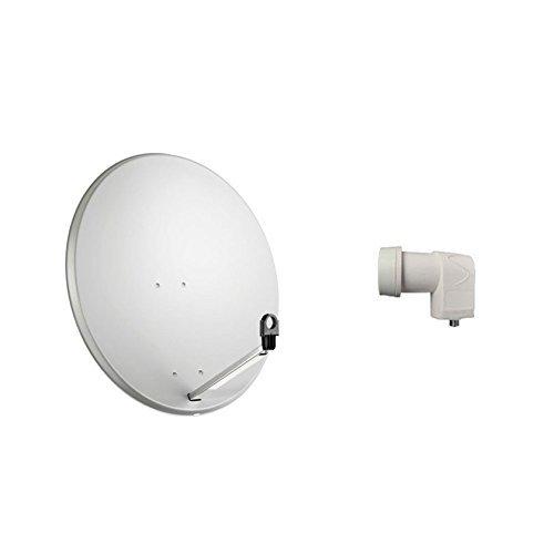Kit Antena parabólica 80 cm. Iluminador convertidor LNB 1 salida.
