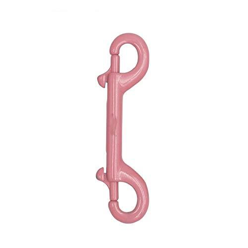 WLSJ Titular de la Llave Perno de Acero Inoxidable Metal Snap Clip Equipo Gancho de Buceo Llavero (Color : Pink 116mm Double)