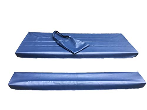 Table Gloves- Worlds Finest, Most Heavy Duty, Fitted Marine Grade Vinyl Picnic Table Cover Sets- Hand Made in The U.S.A. - Great for Camping or Full Time RV Living- (6 Foot Set- Navy Blue)