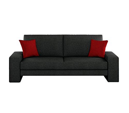 Schlafcouch Schlafsofa - Supra Moderne Sofa mit Schlaffunktion, Lounge Couch, Bettsofa, Materialmix, Couch vom Hersteller, Couchgarnitur (Lux 08 + Lux 14)