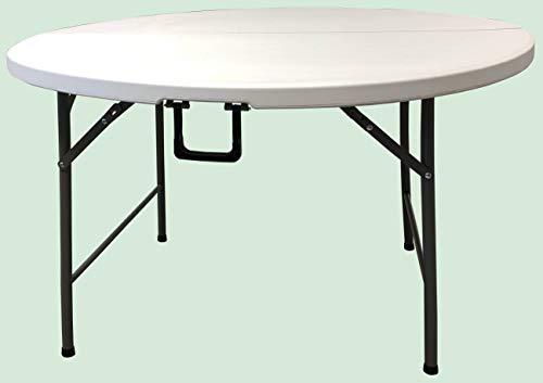 HomeLux 710091 - Tavolo Pieghevole, in Resina, Rotondo, 120 cm, Altezza 74 cm