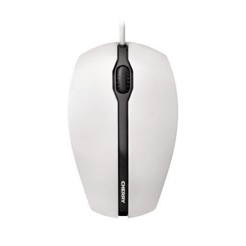 Maus CHERRY GENTIX Corded Optical Mouse Weiß-Grau